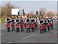 SD8400 : Manchester Irish Festival Parade, Pipes and Drums on Cheetham Hill Road by David Dixon
