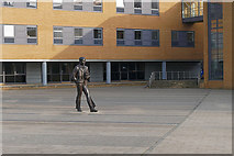 SU9850 : Alan Turing statue, Guildford University by Alan Hunt