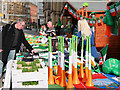 SJ8398 : Manchester Irish Festival, Market Stalls in Albert Square by David Dixon