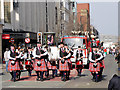 SJ8398 : Manchester Irish Festival Parade, Marching Band on Deansgate by David Dixon