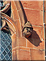 NY3955 : Carved stone head of a policeman, Carlisle Cathedral by Rose and Trev Clough