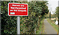 J2865 : No horses sign, Lagan towpath, Hilden (March 2016) by Albert Bridge