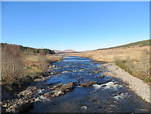 NN2939 : River Orchy from Bridge of Orchy by John Ferguson
