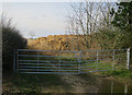 TG1540 : Piles of aggregate by Gibbet Lane by Hugh Venables