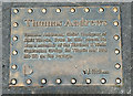 "J3272 : Thomas Andrews ""Titanic"" plaque, Belfast (March 2016) by Albert Bridge"