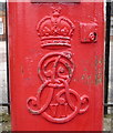 TL6462 : Cypher, Edward VII postbox outside the former Newmarket Railway Station by JThomas