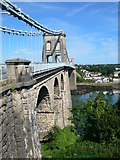SH5571 : The Menai Suspension Bridge by Eirian Evans