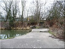 SE3503 : Footpath across the former Worsbrough branch canal by Christine Johnstone