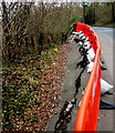 ST3389 : Cracked surface, Caerleon Road, Newport by Jaggery