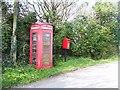 SM8010 : St Bride's Cross - telephone and letter box by welshbabe