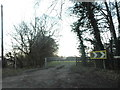 SU7799 : Path and field entrance on Chinnor Road by David Howard