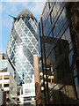 TQ3381 : The Gherkin from Billiter Street by Stephen McKay