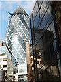 TQ3381 : The Gherkin from Billiter Street by Stephen McKay
