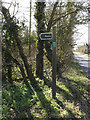 TM1658 : Byway sign on Pettaugh Lane Byway by Adrian Cable