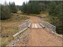 NR7645 : Bridge over Drochaid Burn on a newly formed track by John Ferguson