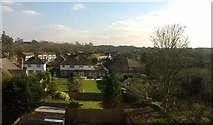TQ1666 : Back gardens off Sugden Road, Thames Ditton, from the railway by Christopher Hilton