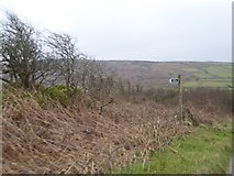 SW4538 : Sign for footpath at Zennor to Churchtown Common by David Smith