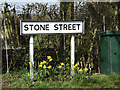 TM1557 : Stone Street sign by Adrian Cable