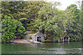 SD3996 : Boat houses on Belle Isle by Rose and Trev Clough