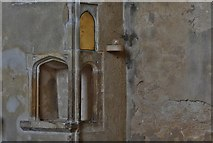 TG2834 : Trunch: St. Botolph's Church: Two sided piscina by Michael Garlick