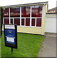 ST2890 : St David Lewis Catholic Church nameboard, Bettws, Newport by Jaggery