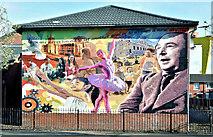 "J3574 : ""Never too Old"" mural, Ballymacarrett, Belfast (March 2016) by Albert Bridge"