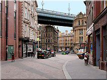 NZ2563 : Newcastle-upon-Tyne, Tyne Bridge Crossing Queen Street by David Dixon