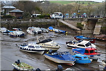 SX8751 : Boats on the harbour mud, Dartmouth by David Martin