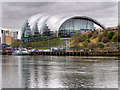NZ2563 : River Tyne, Sage Gateshead by David Dixon
