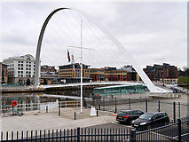NZ2563 : The Millennium Bridge, Gateshead by David Dixon