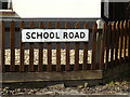 TM1354 : School Road sign by Adrian Cable