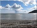J3829 : Solitary hail shower over Dundrum Bay by Eric Jones