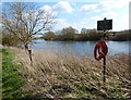 SK7451 : Life belts on the north bank of the River Trent by Mat Fascione