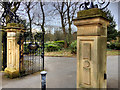 NZ2465 : Leazes Park (7) Main Gates by David Dixon