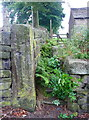 SE0522 : Stile on footpath at East Longley, Norland by Humphrey Bolton