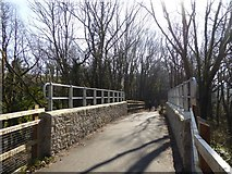 SX7979 : Modern bridge on old railway track, near Wilford Bridge by David Smith