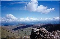SH6963 : The summit cairn of Pen yr Helgi Du by Eric Jones