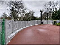 NZ3956 : Sunderland War Memorial Wall by David Dixon