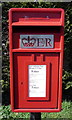 TL0534 : Close up, Elizabeth II postbox on High Street, Greenfield by JThomas