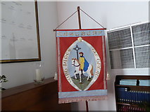 SU3477 : St James, Eastbury: banner by Basher Eyre