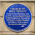 NZ4057 : Heritage Plaque, Holy Trinity Church by David Dixon
