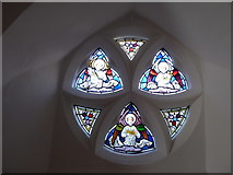 SU3477 : St James, Eastbury: stained glass window (a) by Basher Eyre