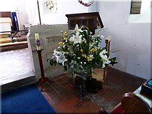 SU3477 : St James, Eastbury: lectern by Basher Eyre