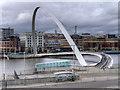 NZ2563 : The Gateshead Millennium Bridge by David Dixon
