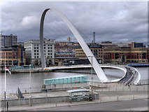 NZ2563 : The Gateshead Millennium Bridge by David Dixon