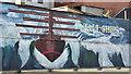 J3475 : Tall ships mural, Belfast (March 2016) by Albert Bridge