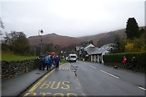 NY3307 : Bus stop in Grasmere by DS Pugh