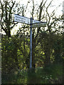 TM1655 : Roadsign on Helmingham Road by Adrian Cable