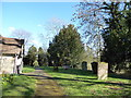 SP0254 : St Peter, Abbots Morton: churchyard (d) by Basher Eyre