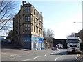 NS5668 : Maryhill Road at Sandbank Street by Thomas Nugent